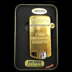 Dale Earnhardt NASCAR Champion 24k Gold Plated Lighter in Box