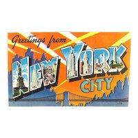 60+ New York City Linen Postcards Unused 1930s to 1950s