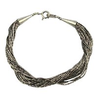Signed Kabana Sterling Silver 20 Chain Bracelet