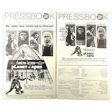 Original 1968 Planet of the Apes Sci-Fi Movie Pressbook w/ Ad Supplement