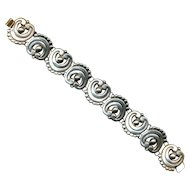 Vintage Mexican Sterling Silver Link Bracelet - Old Style Unsigned