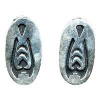 Vintage Signed Sterling Silver NAVAJO  Earrings