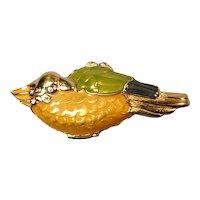 1991 Estee Lauder Solid Perfume GOLDEN PARROT Compact
