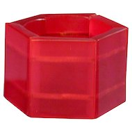 Big Wide RED Lucite Stretch Bracelet - A Vintage Clunker