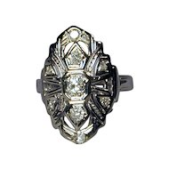 1920s Art Deco 18K Gold & Diamond Ring for a 'Cinderella'