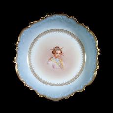 c1900 LIMOGES L.S.&S Hand-Painted Porcelain Bowl - Sleepy Asian Girl
