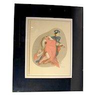 1941 Al Hirschfeld Harlem Lithograph 748/1000 ~ PLASTERED ~
