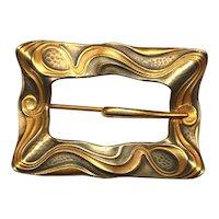 Old c1900 Art Nouveau Buckle Sash Pin Brooch