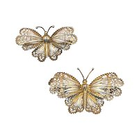 Set of 800 Silver Wirework Filigree Butterfly Pins Butterflies