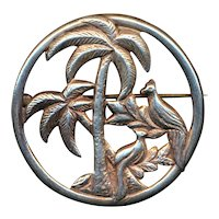 Sterling Silver Vintage PALM TREE Pin Brooch