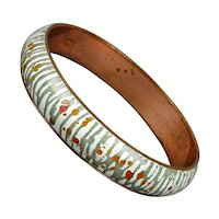 Matisse - Renoir Mid-Century Enamel Copper Bracelet