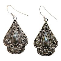 Sterling Silver Dangle Earrings - A Bit of Vintage Exotica