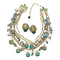 Gorgeous Austrian Crystal Necklace & Earring Set