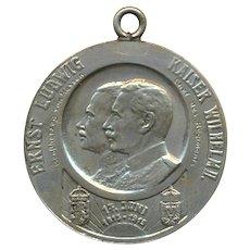 WW1 Germany Military Medal 1813 - 1913 Ernst Ludwig Kaiser Wilhelm