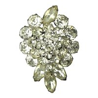 Vintage WEISS Rhinestone Pin - Clear & Blinging