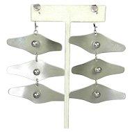 Modernist Mobile Dangling Earrings - Kinetic Wings