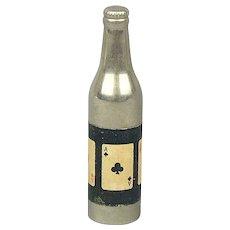 1940s KEM Aces Playing Cards Bottle Shaped Cigarette Lighter Works
