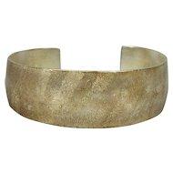 Signed Sterling Silver Modernist Cuff Bracelet