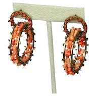 Unusual Stick Coral ~Ferris Wheel~ Hoop Earrings