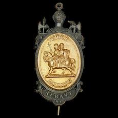 Antique 1880s Masonic Medal Knights Templar Temple Commandery No. 2 Albany, N.Y.