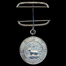 Antique Sterling Silver Masonic Mark Master Degree Pin