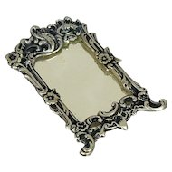 European 835 Silver Miniature Doll House Mirror Hendrik Hooykaas