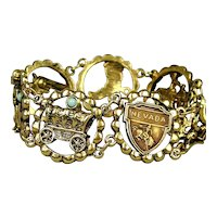 Nevada...Here's Your 1950s Souvenir Western Bracelet