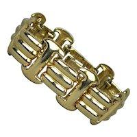 Vintage HALSTON Gold-Tone Link Bracelet