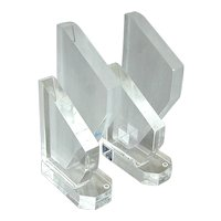 Pair Mid-Century Modern Lucite Bookends Modernist Book Ends