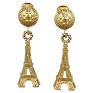 Viva la Vintage Eiffel Tower Clip Earrings