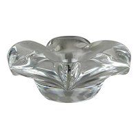Vintage DAUM Nancy France Art Glass Flower Dish Bowl