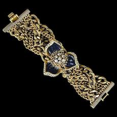 Massive Vintage Bracelet - Over 8 Oz. of Wow Factor - Brace Yourself