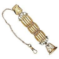 Antique Victorian Gold-Filled Watch Chain Fob Unique Pendant c1905