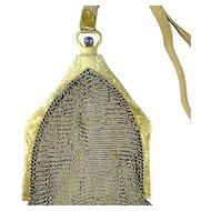Art Deco Era Whiting & Davis Silver Mesh Handbag Purse