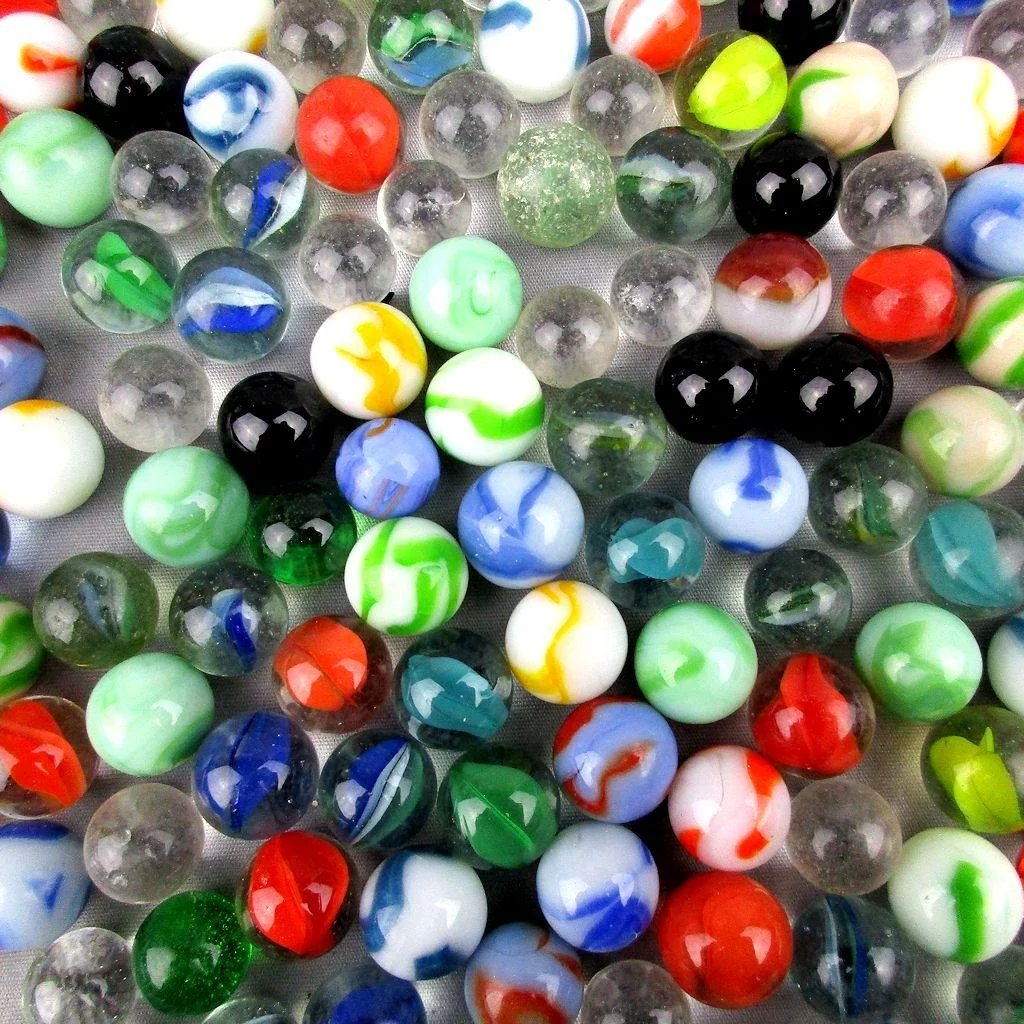 Lot Of 200 Vintage Marbles Aggies Cateye Amp Solid