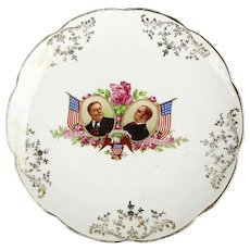 1908 Political Campaign Plate Taft - Sherman - Vodrey China