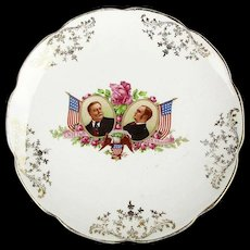 1908 Political Campaign Plate Taft - Sherman - Vodrey China