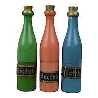 1920s Germany Galilith Miniature Scotch Bottles Pill Box Needle Case