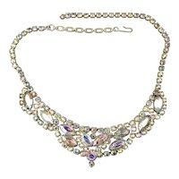 Vintage Aurora Borealis Rhinestone Necklace - Glamtastic Sparkler