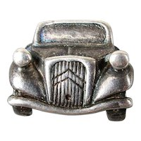 Vintage Sterling Silver CITROEN French Car Pin Brooch