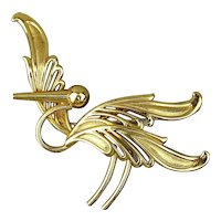 Vintage Flying STORK Pin