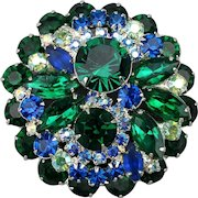 Just a nice big vintage rhinestone pin w/ good colors...