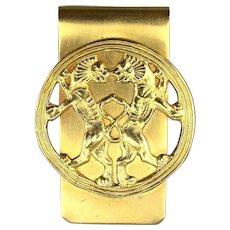 Vintage MMA Persian Empire Ornament Money Clip - Achaemenid Lions