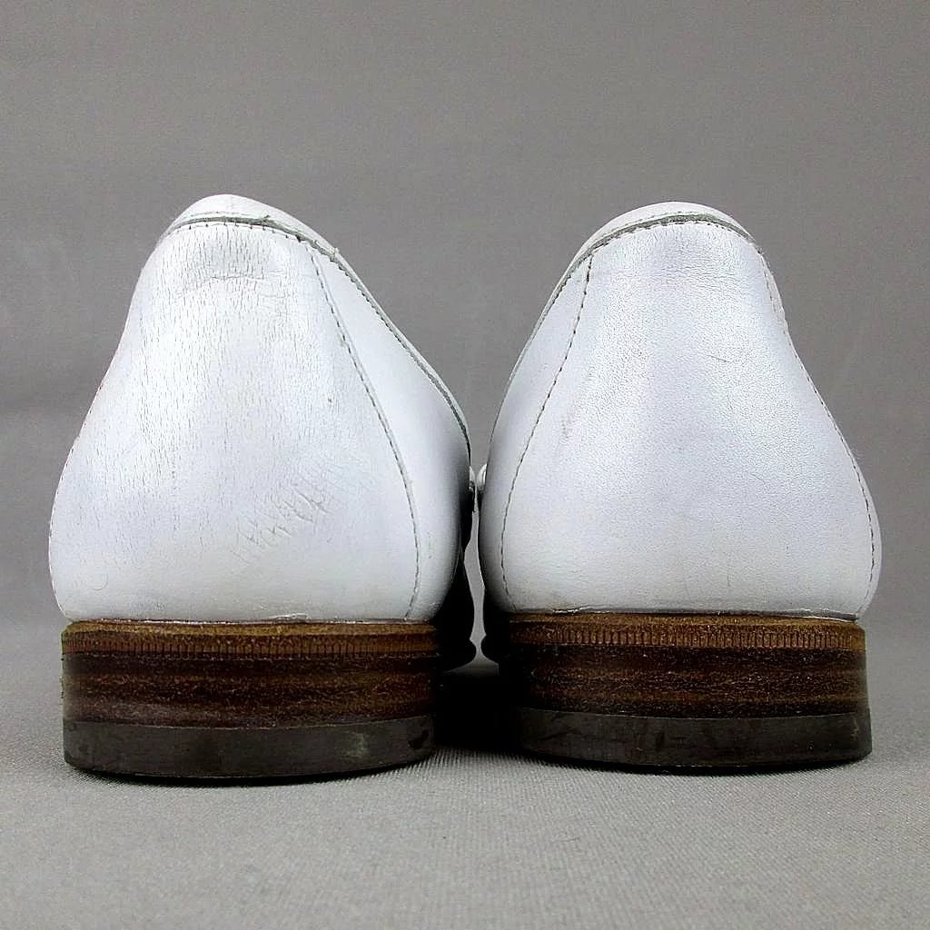 Vintage Mens GUCCI White Leather Horsebit Loafers Dress ... |White Gucci Dress Shoes For Men