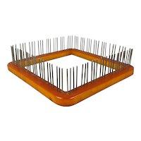1938 Bakelite WEAVE-IT Weaving Loom w/ Instruction Booklet