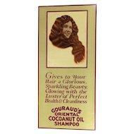 Orig. 1920s GOURAUD'S Advertising Sign - Oriental Hair Shampoo