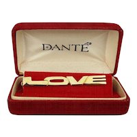 1960s DANTE ~ LOVE ~ Tie Clasp Tie Clip in Original Box