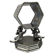 Victorian Silverplate Angel Cherub Napkin Ring c1880s Derby Silver Co.