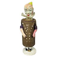 Antique Victorian Clown Musical Rattle Novelty Toy Figurine