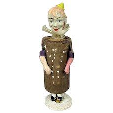 Antique Victorian Clown Musical Rattle Novelty Toy Figurine